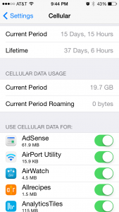 iphone call time data