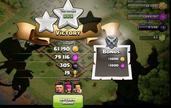 clash clans victory secret