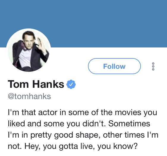 189 Funny Twitter Bios & Ideas | Tom Hanks Twitter Bio | Appamatix.com