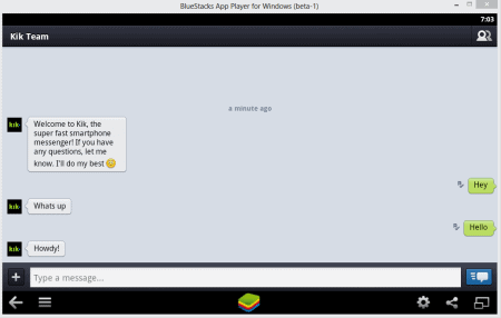 kik bluestacks