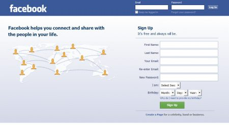 Facebook Com Log In Home Page