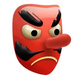trophy - red mask