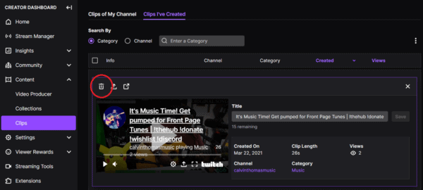 How to Delete Twitch Clips