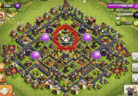 Clash of Clans Bases Clan Castle Troops
