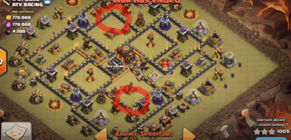 Clash of Clans Defend Against Attackers