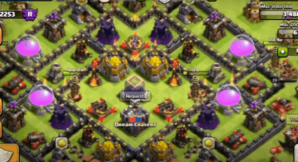 Clash of Clans Defend Your Base